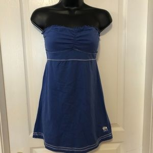 💙 Abercrombie & Fitch Blue Tube Top style dress